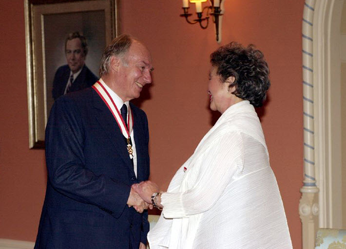 His Highness the Aga Khan invested Companion of the Order of Canada
