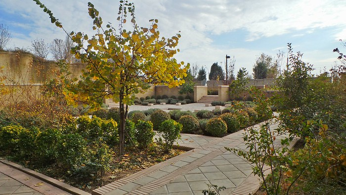 One of the many courtyards of the Ismaili Centre, Dushanbe