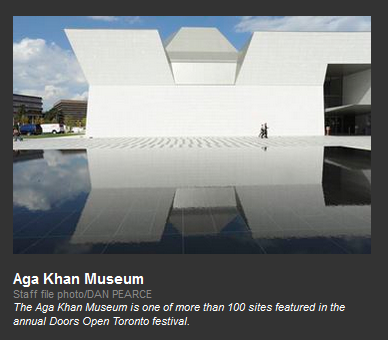 Inside Toronto - Doors Open Toronto - Aga Khan Museum and Ismaili Centre Toronto and World Partnership Walk