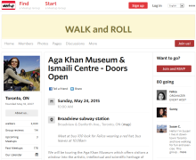 Doors Open Toronto - Walk and Roll tour Aga Khan Museum and Ismaili Centre Toronto