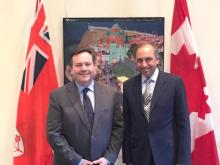 Minister for Multiculturalism, Jason Kenney - Excellent meeting with Dr. Mahmoud Eboo, representative of His Highness the Aga Khan