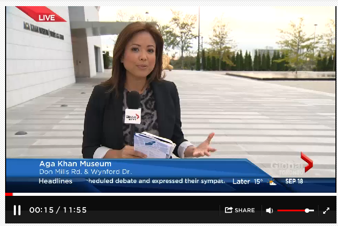 Global News - Toronto receives new addition to cultural mosaic The Aga Khan Park