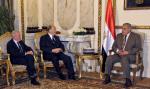 His Highness the Aga Khan meeting with Prime Minister Ibrahim Mahlab of Egypt on 2 May 2015. (Image credit: Government of Egypt via AKDN)
