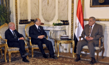His Highness the Aga Khan meeting with Prime Minister Ibrahim Mahlab of Egypt on 2 May 2015. (Image credit: Government of Egypt via AKDN)