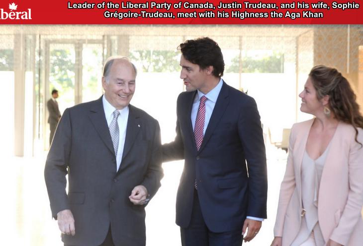 Trudeau praises the work of Aga Khan