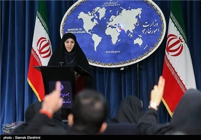 Iran's Foreign Ministry Spokeswoman Marziyeh Afkham condemned a Wednesday terrorist attack in the Pakistani city of Karachi that killed scores of Shiite Muslims on a bus. (Image via Tasnim News Agency)