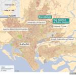 Karachi attack on Ismailis: Image map via BBC