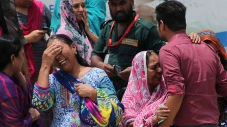 Grief-stricken relatives rushed to the hospital when news of the bus attack broke (Image via BBC)