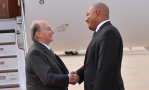 Mawlana Hazar Imam is received by Michael Coteau, Ontario's Minister of Tourism, Culture, and Sport. AMIR HEMRAJ/TheIsmaili