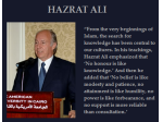 His Highness Prince Karim Aga Khan on Hazrat Ali