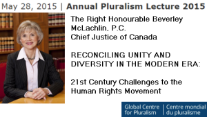 Event - May 28 | Annual Pluralism Lecture 2015