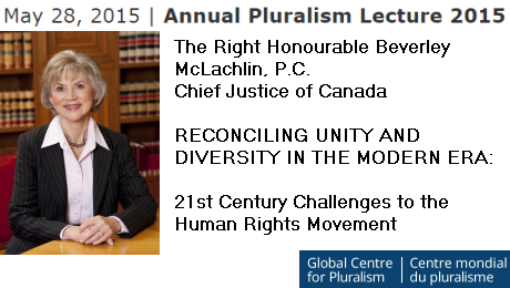 Event - May 28   Annual Pluralism Lecture 2015