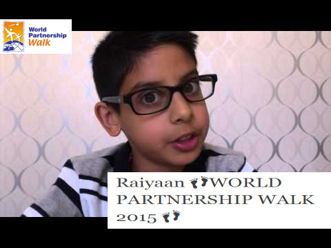RaiyaanWORLD PARTNERSHIP WALK 2015