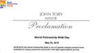 Toronto Mayor John Tory & Toronto City Council proclaim May 24, 2015 as World Partnership Walk Day