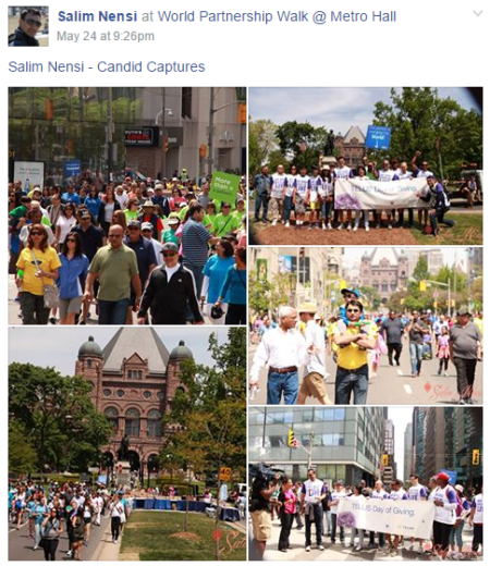 World Partnership Walk 2015 Toronto: Salim Nensi Photographs