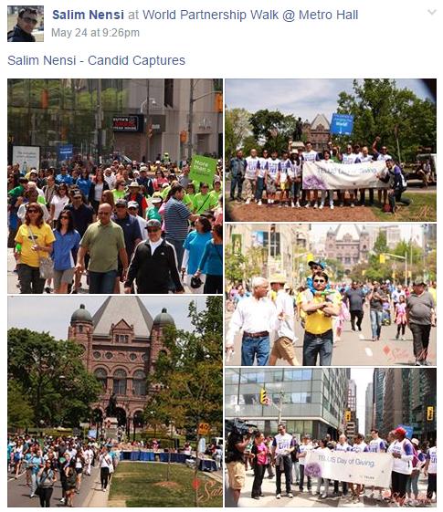 World Partnership Walk 2015 Toronto: Salim Nensi Photographs
