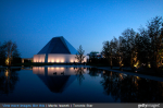 A view of the park near the Aga Khan Museum and The Ismaili Centre in Toronto