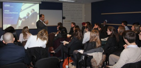 Al Kanji, Senior Partner, KPMG, talks to University students about finance
