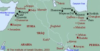 Ismaili Castles in Iran and Syria. Image: The Institute of Ismaili Studies