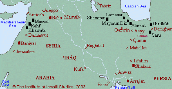 li Castles in Iran and Syria. Image  via IIS