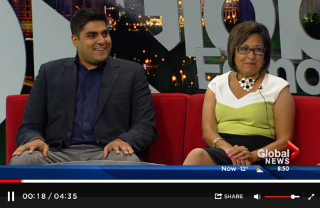 Arif Karmali and Naz Hasham on Global News talking about Partnership Walk in Canada