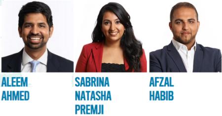 Aleem Ahmed, Sabrina Premji & Afzal Habib win 2015 Echoing Green Fellowship Award