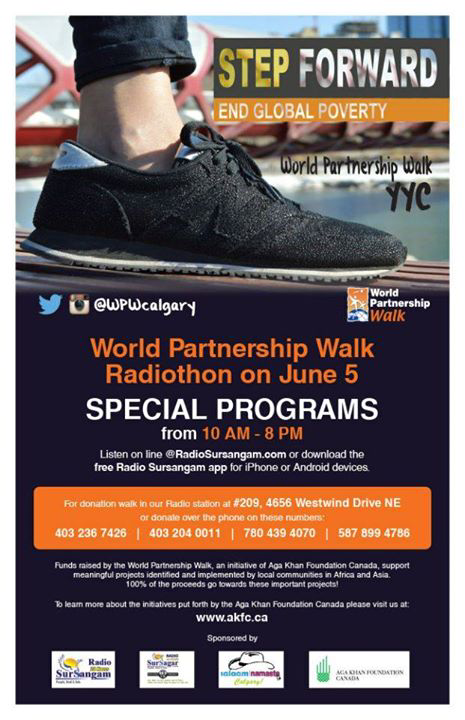 World Partnership Walk Radiothon on June 5