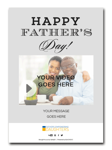 Fathers Empowering Daughters: A Novel Way to Wish Father's Day Greetings