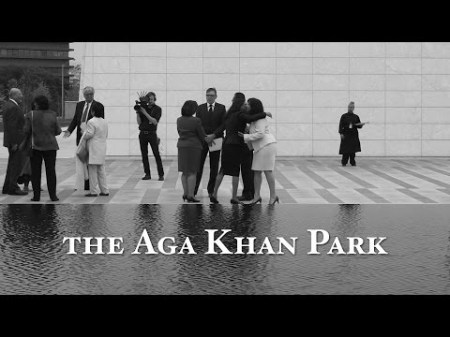Mark Disero of GardenToronto.ca at the opening of the Aga Khan Park in Toronto