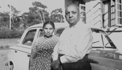 Hasham Jessa and his wife Sambai
