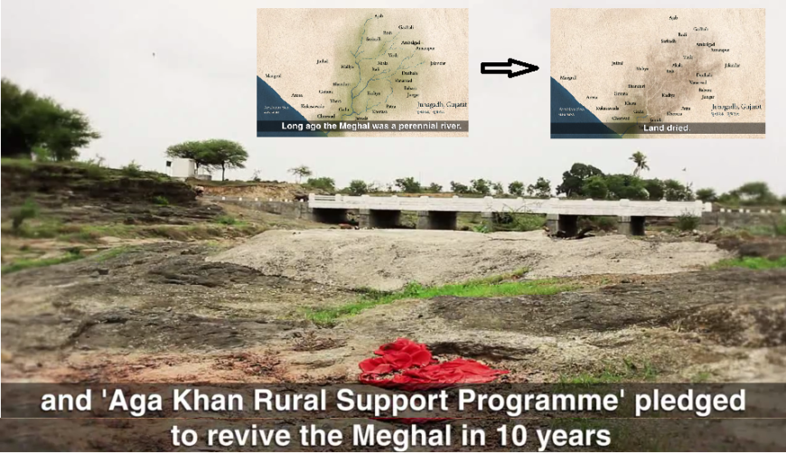 Junagadh's Meghal river revived with a decade of work by villagers assisted by Aga Khan Rural Support Programme India