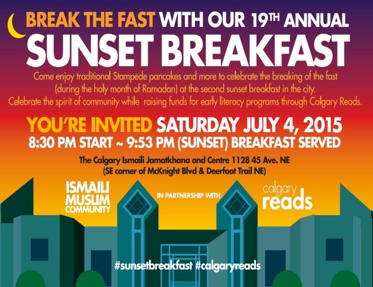 Ismaili Muslim Community Sunset Breakfast