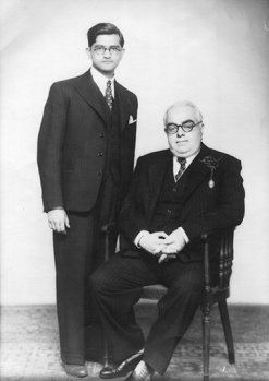 Kassamali Jamal With His Highness the Aga Khan III