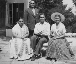 Prince Aly Khan, Rita Hayworth, with Mr and Mrs Moolji Nazarali