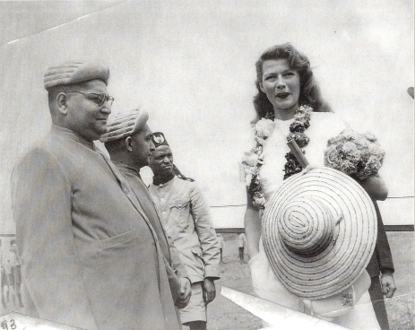 rita hayworth visited arusha with prince aly khan and met ismaili leaders