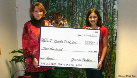 Yasmin Pirbhai, 11, raises $15,000 for lion exhibit