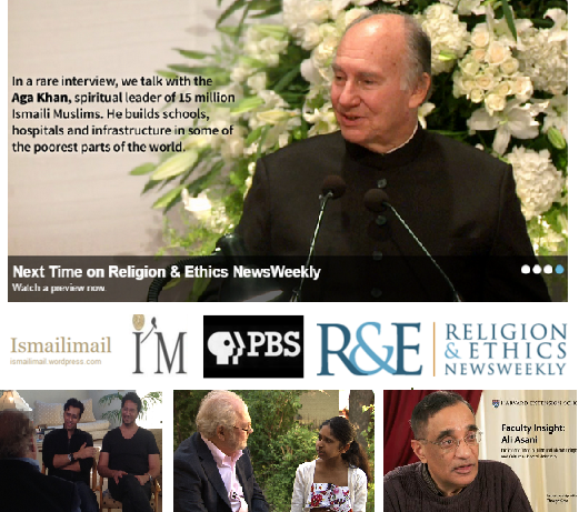 A special PBS show on the Ismailis - PBS speaks to Bollywood duo Salim-Sulaiman, One Billion Rising's Alyna Nanji, Harvard's Professor Ali Asani and His Highness the Aga Khan