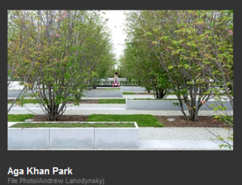 Aga Khan Park (Image via Inside Toronto)