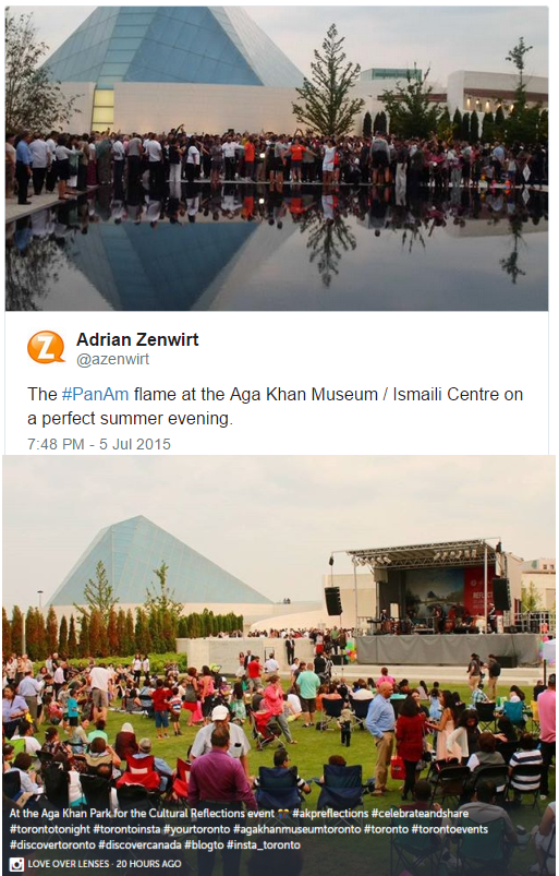 Storify: Welcoming Pan Am Games Flame at the Aga Khan Park