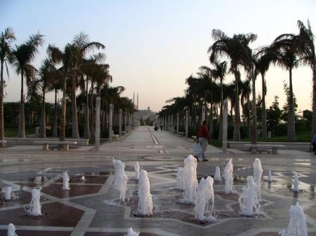 fountains al azhar park cairo
