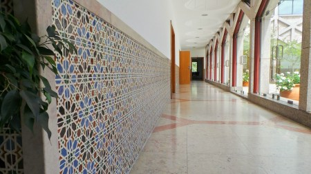 Tile work at the Ismaili Centre, Lisbon, Portugal
