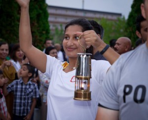 Aabida Dhanji: Pan Am Flame Arrives At Aga Khan Park