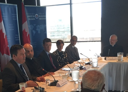 Minister Kenney participates in the inaugural meeting of the Office of Religious Freedom External Advisory Committee along with Vice-Chair Mr. Malik Talib. June 22, 2015