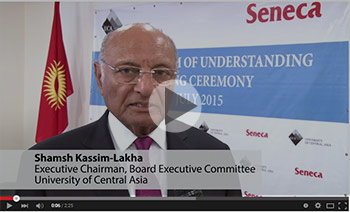University of Central Asia Signs Milestone Curriculum Development Agreement with Seneca College, Canada