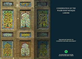AKTC's assessment of the organisational, technical, and financial requirements for the conservation of the mosque. (Photo: Archnet)