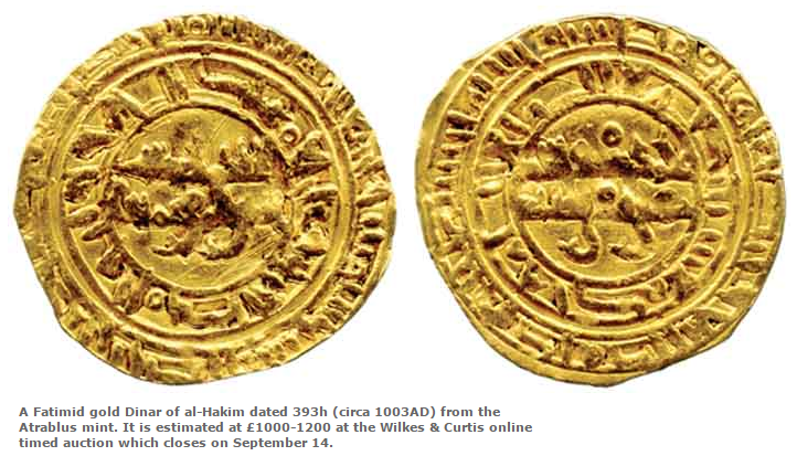 Unrecorded Fatimid gold dinar of Imam/Caliph al-Hakim emerges