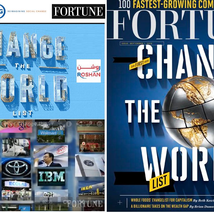 The Fortune Change the World List: # 21 Roshan Highlighting top companies that create impact through the power of capitalism