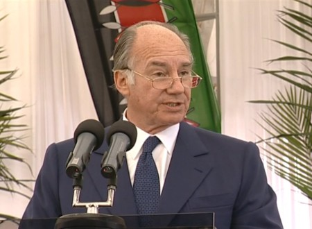 His HIghness the Aga Khan addressing the guests at the inauguration of the Alltex EPZ Plant. (Photo: AKDN)