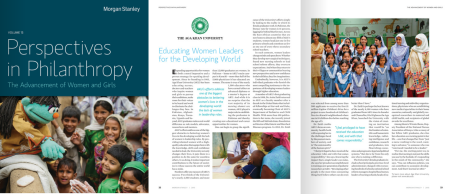 Morgan Stanley Wealth Management Launches Perspectives in Philanthropy and Cites Aga Khan University as an Innovator in The Advancement of Women and Girls