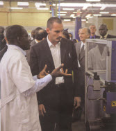 Prince Rahim tours Filtisac (Photo: The Ismaili Canada/Gart Otte)